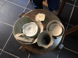 古窯跡から出土した器